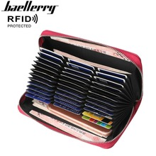 2018 Baellerry Women Card Wallets 36 Holders Large Capacity Long Female Purse Zipper High Quality Brand Wallet For