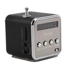 1Pcs Digital portable Speaker Mini MP3 Player USB Disk Micro  TF FM Radio F/ PC 4 Hot New