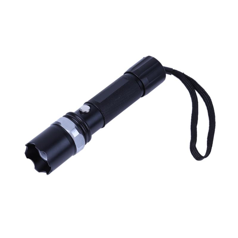 Rechargeable Mini Zoomable Torch Strong Light Aluminum Alloy LED Flashlight Outdoor Camping Lighting