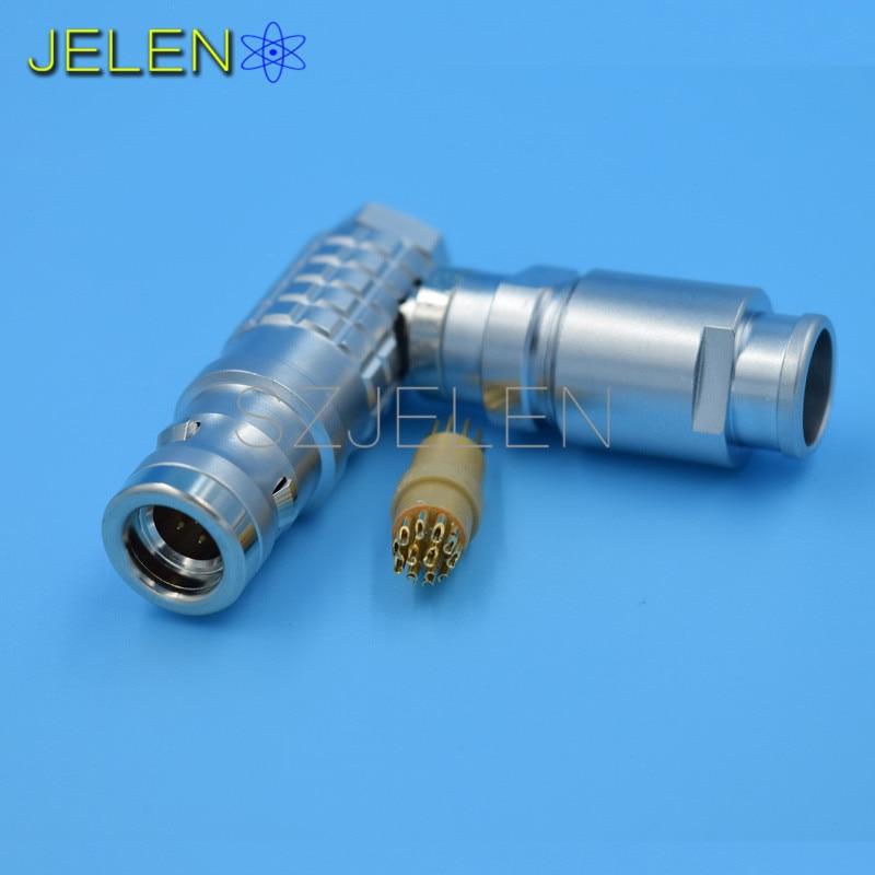 Lemo Waterproof Connector 12 Pin Plug Fhg 1k 3012 Clad