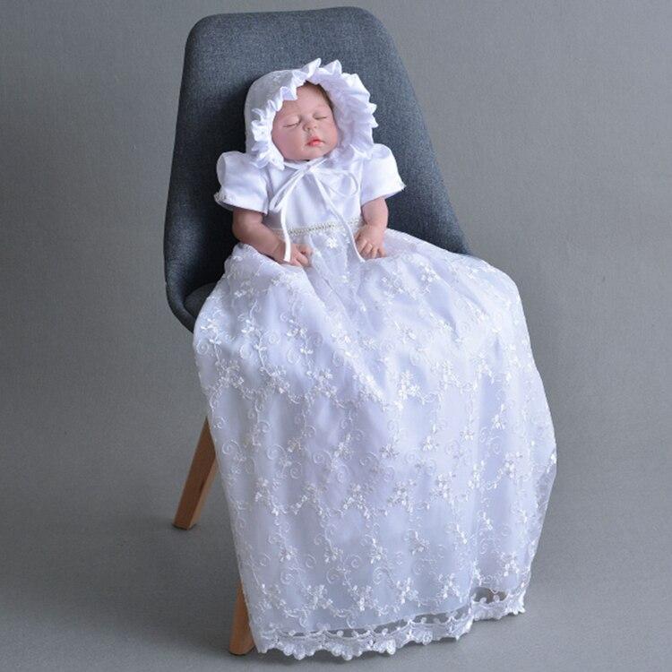 Nouveau-né bébé vêtements baptême fête robe robe robe complète princesse filles anniversaire bébé robes pour baptême bébé douche cadeau