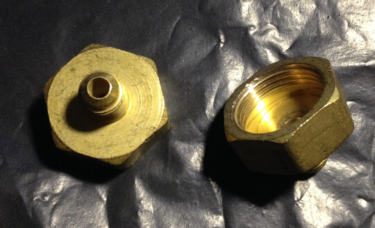 59 brass Freon high pressure refrigerator  of copper adapter connector female inner diameter 24mm to male 11mm 59 brass freon high pressure refrigerator of copper adapter connector female inner diameter 24mm to male 11mm
