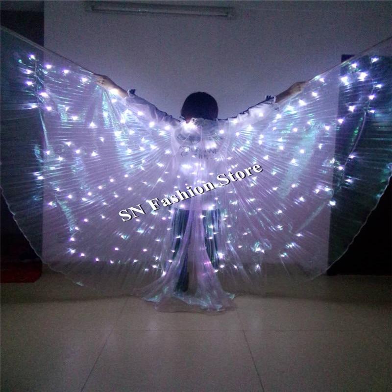 PF899 taneční oblečení led světla jeviště oblečení světelné kostýmy obleky baletní party princezna svatba bellydance hudba sj show šaty  t