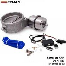 Выпускной Управление клапан комплект с вакуумным приводом вырез 2.5 «63 мм трубы закрыть стиль с Беспроводной удаленного Управление; EP-CUT63-CL-DZ