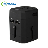 Hangrui Universal Travel Power Adapter International Plug Adaptor 2 5A Electric Socket For USA EU UK