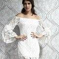 2014 rendas barra pescoço manga flare top fashion dress roupas femininas sexy low cut vestidos bebe bloueses vestido de camisa sl0429