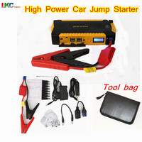 Newly Two Flashlight 16000mah Car Jump Starter With LED Display 4USB 2 0A Output Jump Starter
