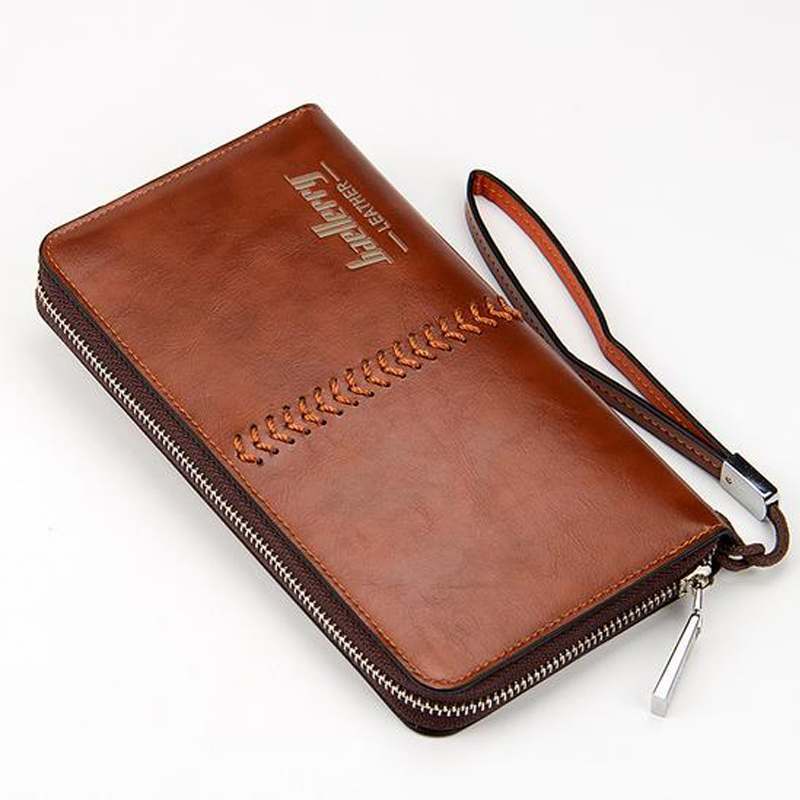 New Arrival Wallet Retro Purse Zipper Long Style Closure Fashion Multifunctional Money Bag More Card Slots For Gentlemen