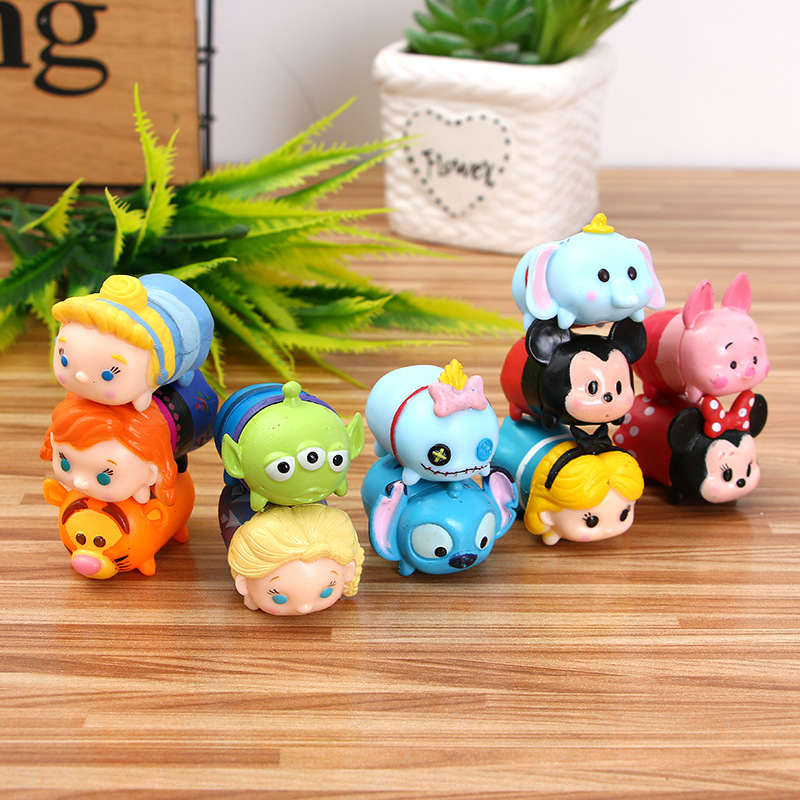 Hospitable 14 Pcs/lot Disney Minnie Micky Mouse Action Dolls Kids Frozen Elsa Stitch Princess Toy Figures Decoration Gifts About 4 Cm Price Remains Stable Toys & Hobbies