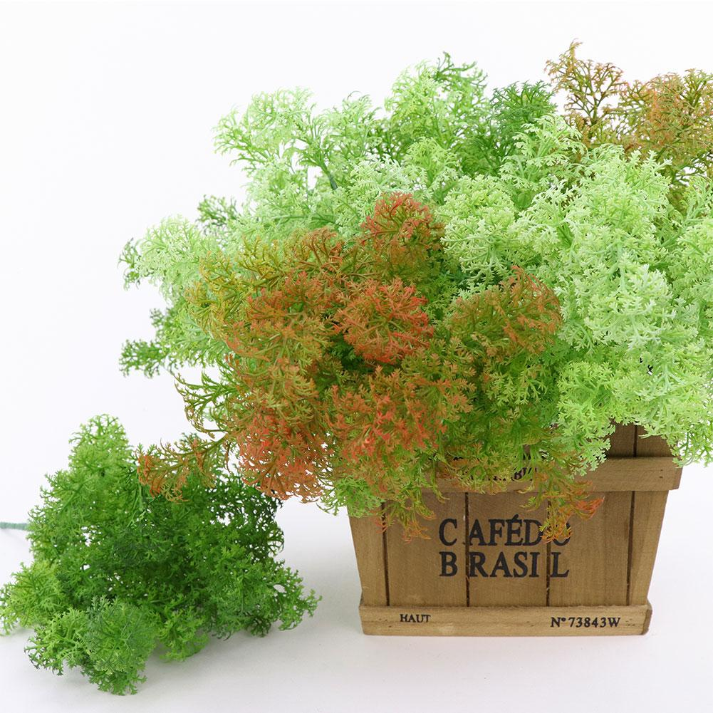 1pc Artificial Plastic Moss Grass Plant Tree Home Office Party Furniture Decoration