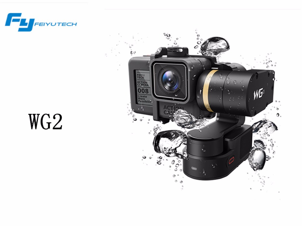 FeiyuTech WG2 Wearable Gimbal Waterproof Stabilizer FY Gimbal for Gopro Hero 5/4 Session Xiaoyi 4K Sport Camera pannovo waterproof pu leather extra thick anti shock eva case for gopro hero 4 3 3 2 sj4000
