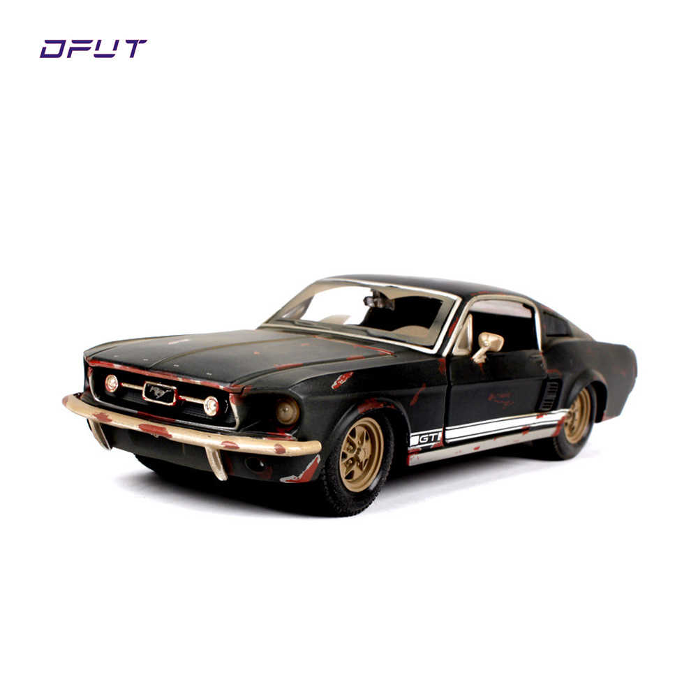1 24 1967 ford mustang gt black diecast model car toy car toys for boys