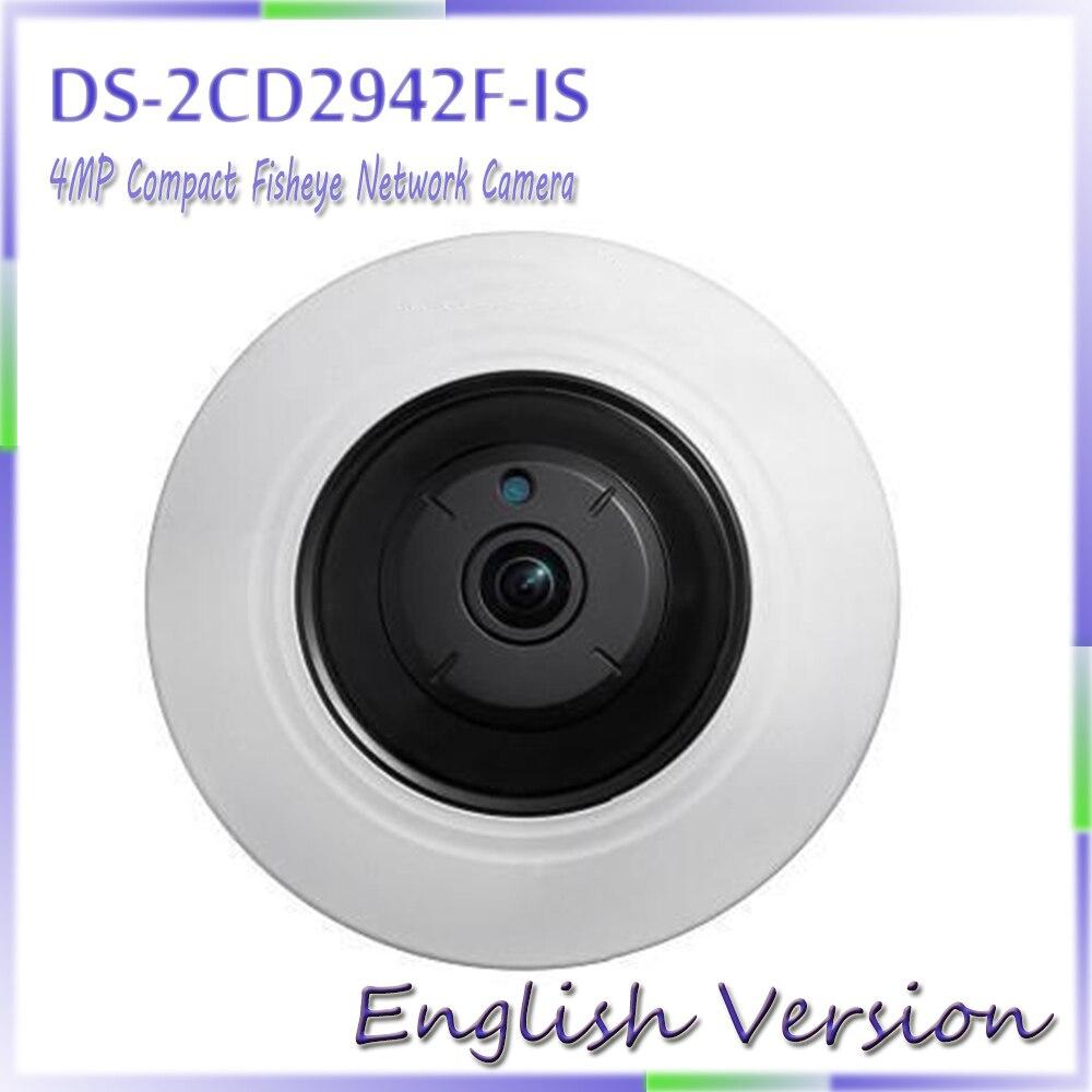 В наличии английская версия ds-2cd2942f-is 4mp компактный Fisheye сети ip Security Камера Поддержка 128 г на борту хранения
