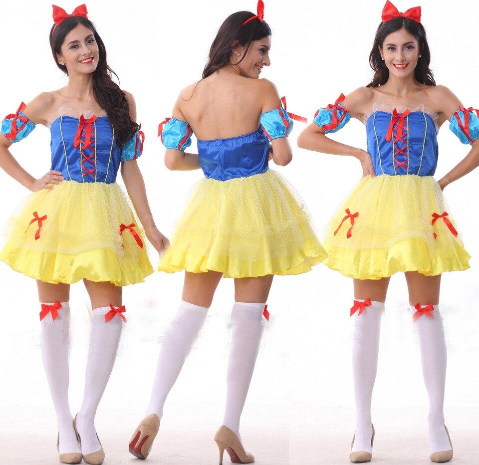 Cenerentola Biancaneve Principessa Delle Fiabe Costumi per le Donne Sexy  Costumi di Halloween Bellezza Costume Cosplay in Cenerentola Biancaneve  Principessa ... dacc7e7858c