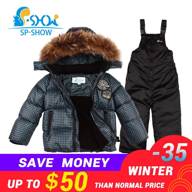 55a788d569 aliexpress.com - BUY 1 SUIT GET 1 FREE SCARF -30 degrees SP-SHOW Winter 90%  White down suit nature fur hat Thick Warm Fleece Down suit - imall.com