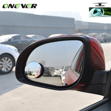 Car Rear view Convex Mirror Wide Angle Round Convex Mirror 360 Degrees Rotating Wide Angle Blind Spot Auto Exterior Accessory