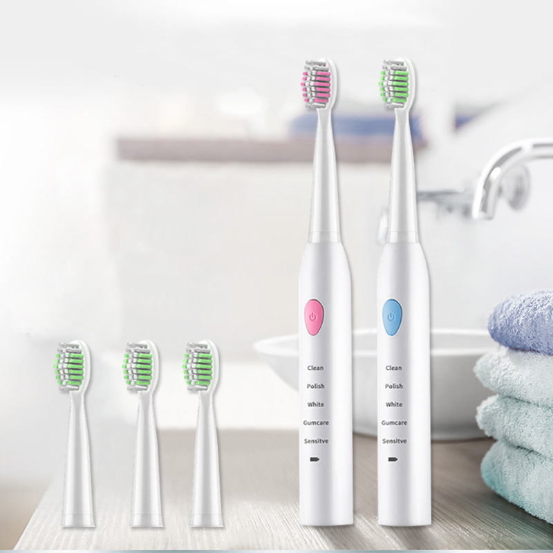 Sonic Electric Toothbrush 4 brush heads 5 Cleaning Modes USB Charger Tooth Brush electric toothbrush lansung U1 upgraded brush 5