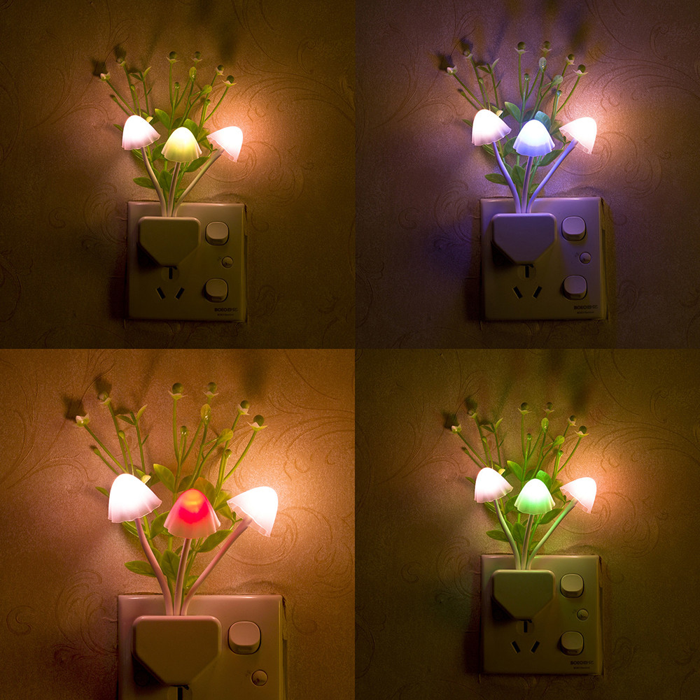 night led lamp colorful sensor plug mushroom romantic lamps walmart lights lighting china lampu kamar bentuk hiasan untuk colour aliexpress