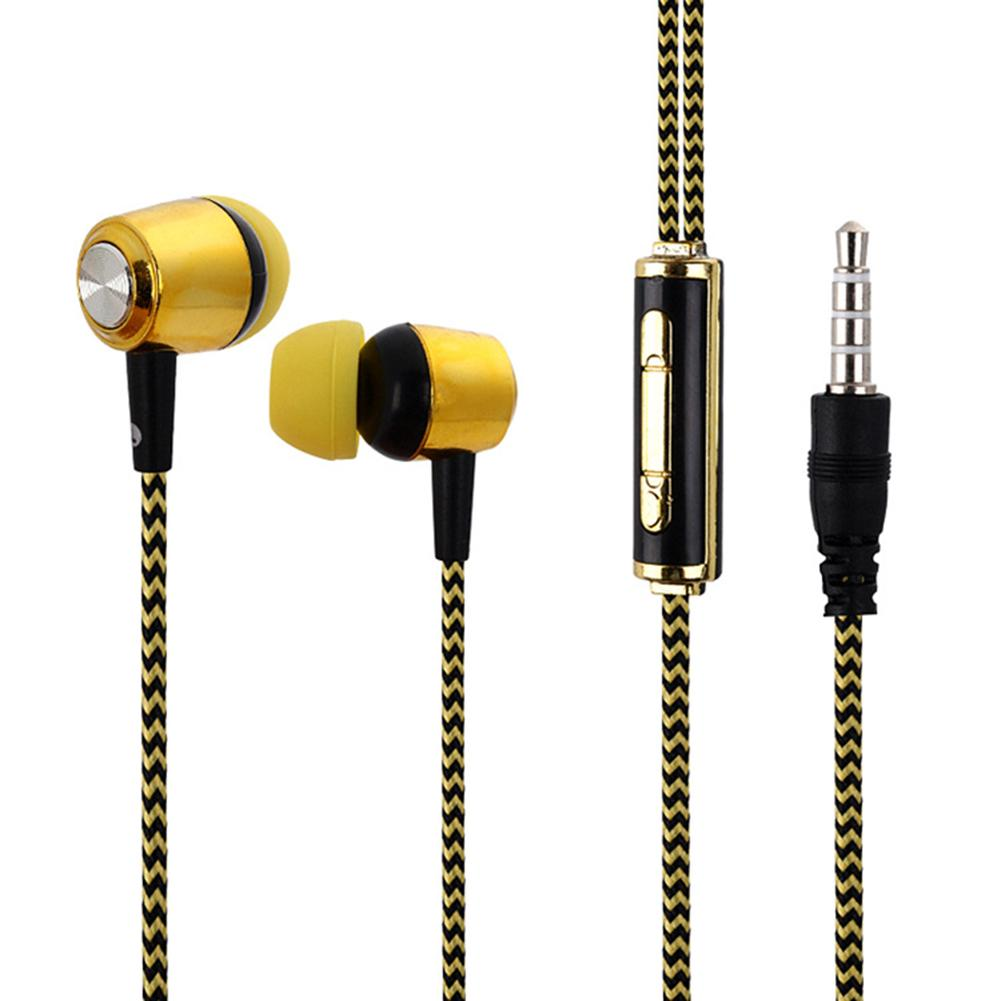 Fashion 3.5mm Wired Volume Control In-ear Earphone Bass Headphones Built-In Microphone