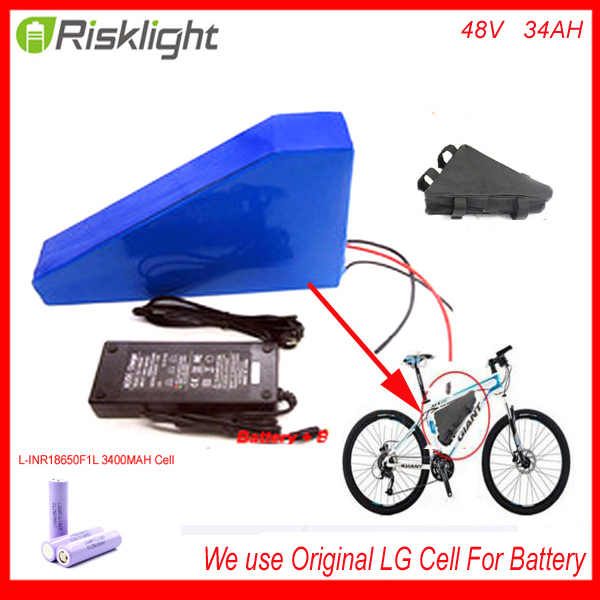 48v 34ah triangle lithium battery 48v ebike battery 48v 1000w li-ion battery pack for electric bicycle For LG 18650 cell 48v 34ah triangle lithium battery 48v ebike battery 48v 1000w li ion battery pack for electric bicycle for lg 18650 cell