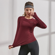 Женские спортивные рубашки с длинным рукавом Vansydical, однотонные топы для бега, тонкие колготки для йоги, спортзала, дышащие тренировочные футболки для тренировок