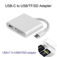 Universal Expansion dock OTG Camera adapter Type c to SD TF Card reader converter kit Cable For samsung huawei xiaomi