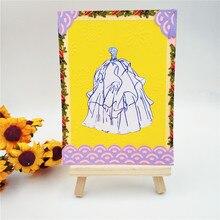 Красивое свадебное платье Металлические вырубные штампы для скрапбукинга DIY Альбом для тиснения