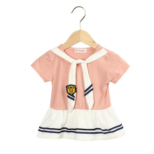 0.5-3yeas Casual Summer Baby Girl Dress Cotton Navy  Infant Dresses Toddler Clothes