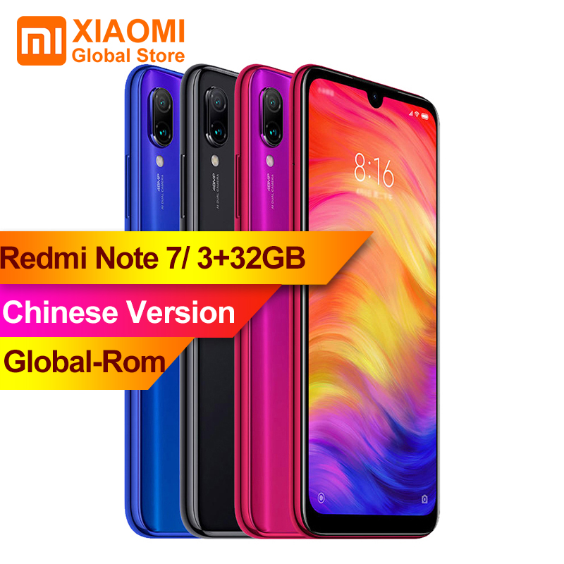 XIAOMI Redmi Note 7 3GB RAM 32GB ROM Smartphone S660 Octa Core 4000mAh 6.3 FullScreen 2340 x 1080 48MP+13MP Camera Mobile PhoneXIAOMI Redmi Note 7 3GB RAM 32GB ROM Smartphone S660 Octa Core 4000mAh 6.3 FullScreen 2340 x 1080 48MP+13MP Camera Mobile Phone