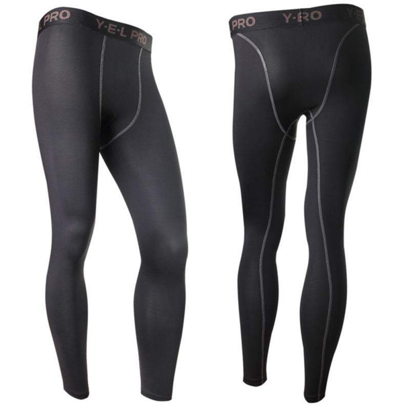Strong-Willed Sports Men Compression Athletic Pants Running Training Fitness Base Layers Skin Fitness Tights Gym Men Leggings