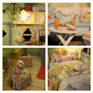 Image 3 - DIY Doll House Wooden Doll Houses Miniature Dollhouse Furniture Kit Toys for Children Gift  Time Travel Doll Houses A 016