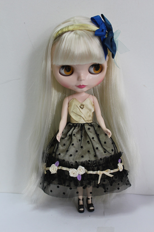 Free Shipping big discount RBL-146DIY Nude Blyth doll birthday gift for girl 4colour big eyes dolls with beautiful Hair cute toy