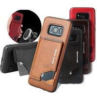 Pierre Cardin Genuine Leather Case Slim Card Holder Stand Flip Leather Hard Back Cover Case For