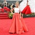 Sexy Emmy Red Carpet Celebrity Vestidos 2017 Barato de Dos Piezas Kylie Jenner Runway Formal Prom Vestidos de Noche Para Las Mujeres Elegantes