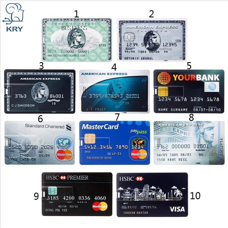 Real Capacity Bank Card USB Memory Stick HSBC Master Credit Card USB Flash Drive 64gb Pendrive 4GB 8GB 16GB 32GB Pen Drive 128gb