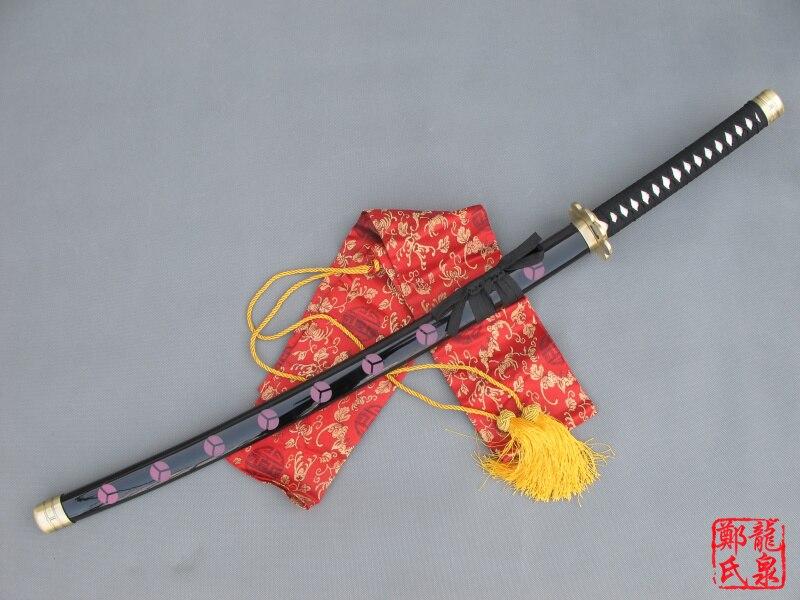Véritable Anime épées katanas une pièce Cosplay ShusuiSandai Zoro épée décoration accessoire de noël rouge placage pas de métal pointu artisanat - 3