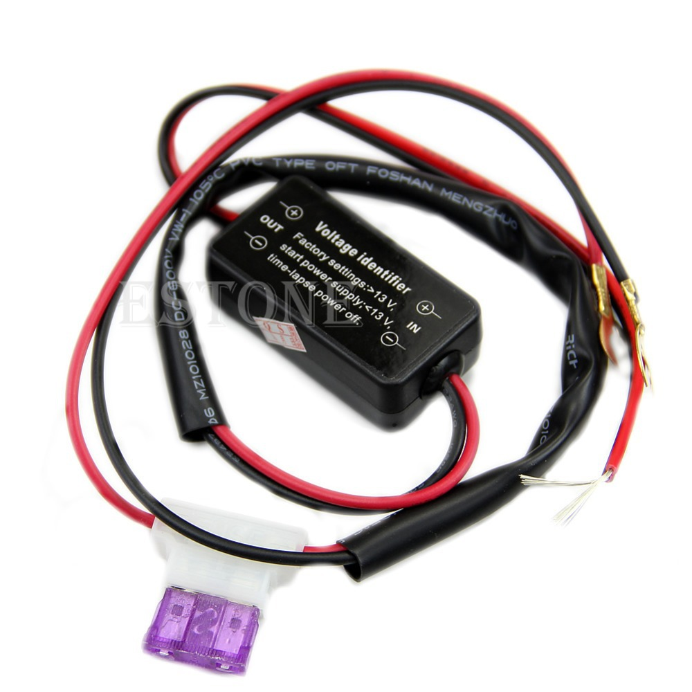 2017 B86 Hot Car Led Daytime Running Light Relay Harness DRL ControlL ON OFF Automatic JUN14