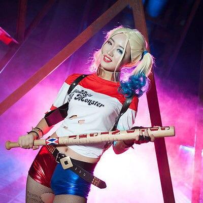 Halloween Suicide Squad Harley Quinn Daddy's Abrigo Lil Camisa Chaqueta Cosplay