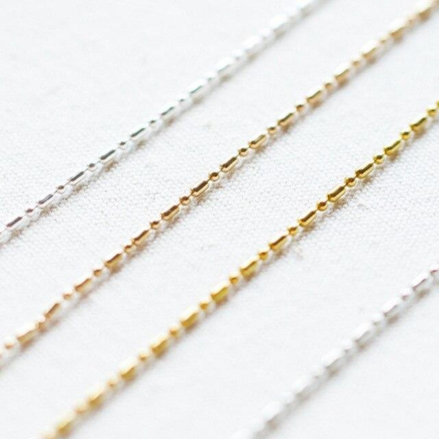 5 mt/los Dia 1,5mm Ball Schmuck Ketten Groß Erkenntnisse Eisen Metall Kc Gold Silber Farbe Halskette Kette Lot Für DIY Schmuck Liefert
