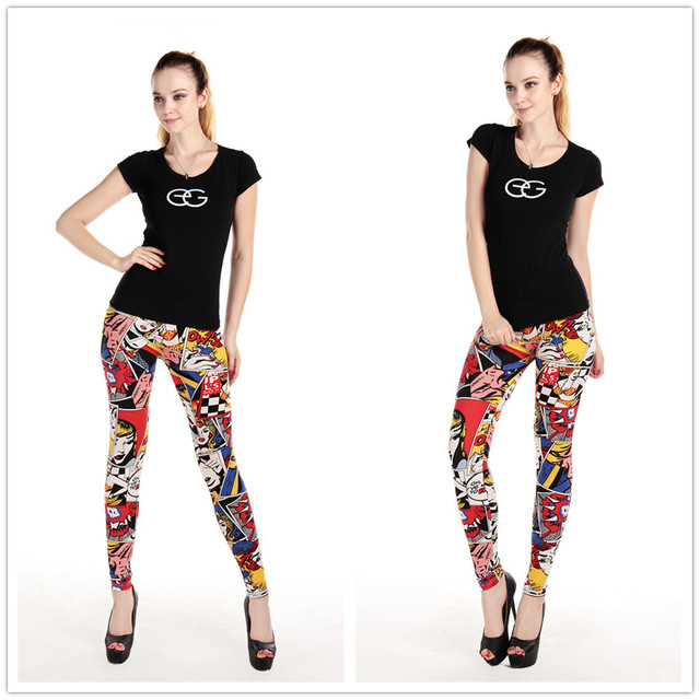 Cartoon Comic Leggings 4