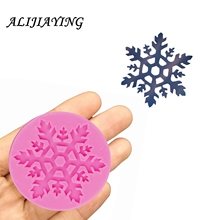 Different styling christmas snowflakes silicone mold fondant mould cake decorating tools Sugarpaste Craft Bakeware D1304