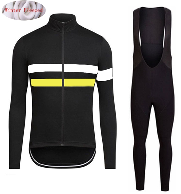 2018 Winter Thermal Fleece Jerseys Bicycle Cycling Bib Pants Set Warm Jacket Clothes MTB Riding Bike Clothing inner fleece