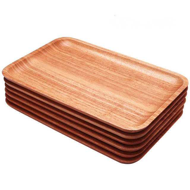 Japan Style Wooden Storage Trays Rectangle Tea/Coffee ...