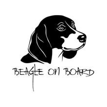Black beagle Vinyl Car Decal Sticker Pets Bumper  Window stickers Cute And Interesting Stickers