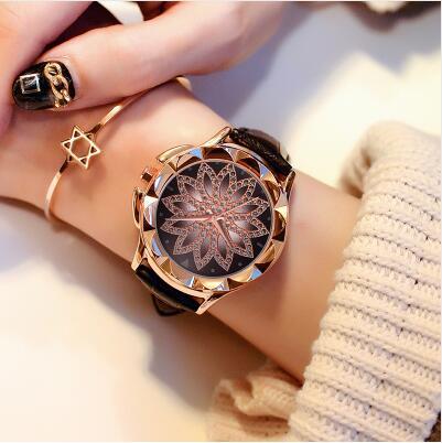 Ladies Wrist Watch Women 2019 Top Brand Famous Female Clock Quartz Watch Flowers Wristwatch Montre Femme Relogio Feminino