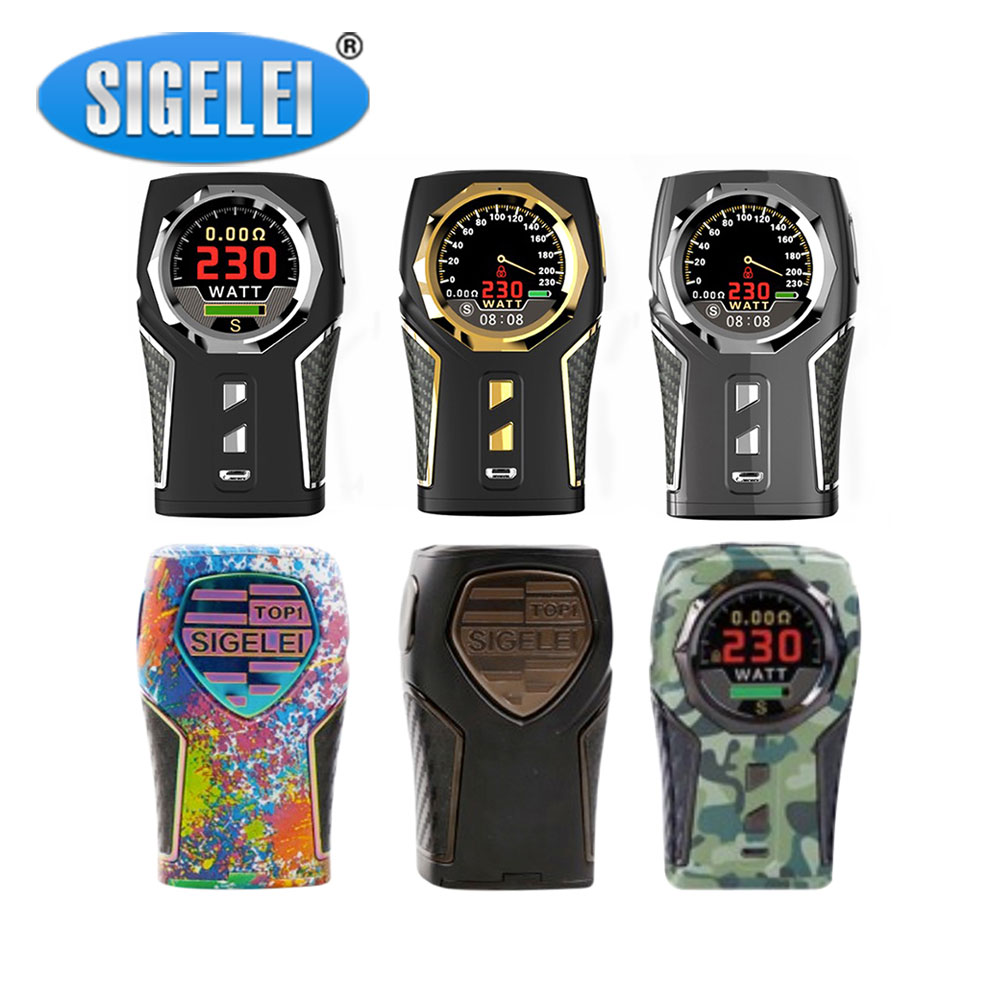 Original Sigelei TOP1 TC Box MOD W/ 1.3-inch HD Display Screen & 230W Huge Output Power No 18650 Battery E-cig Sigelei TOP1 Mod