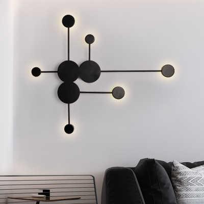 Современные светодиодный настенный светильник Гостиная креативные бра светодиодный Спальня прикроватные украшения Nordic дизайнер коридор настенные светильники-бра для гостиницы