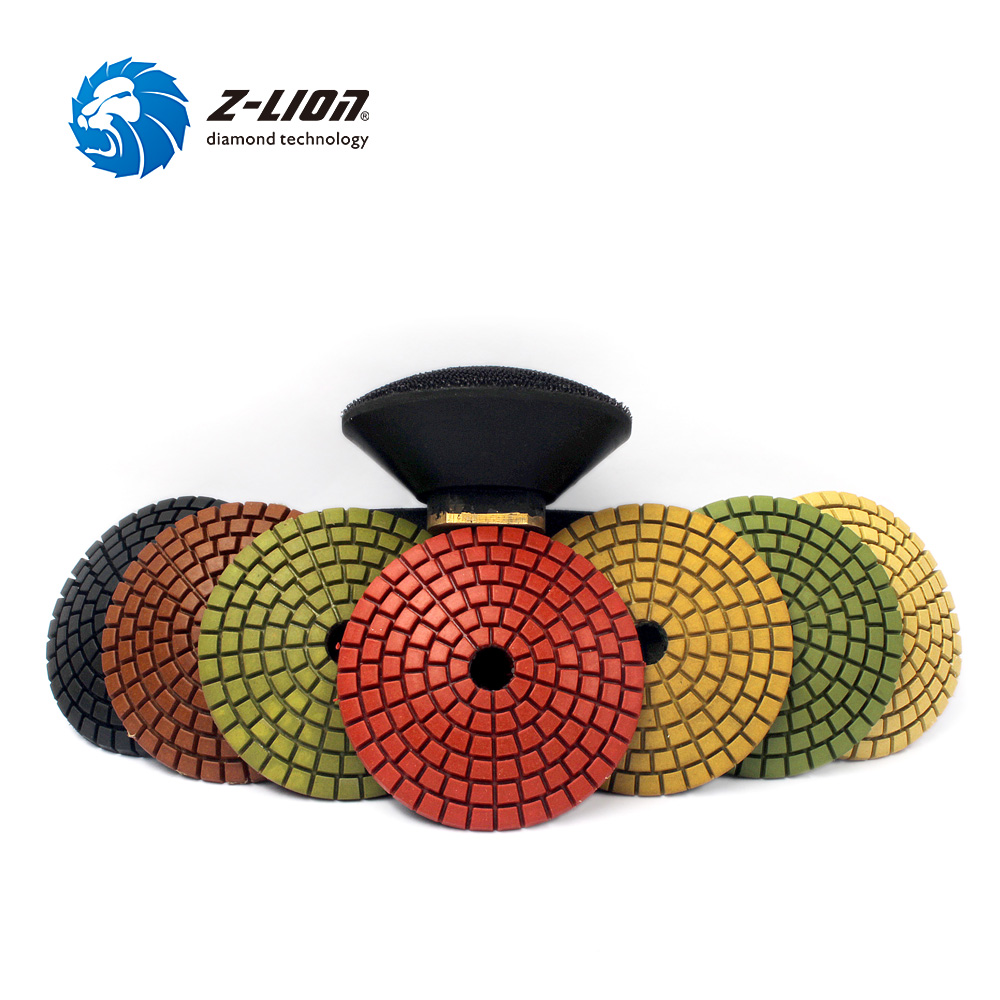 Z-LION 3 Diamond Convex Polishing Pad 8pcs Bowl Arc Type Diamond Polishing Pad For Marble Granite With Backer Pad Convex Disc barbour pубашка