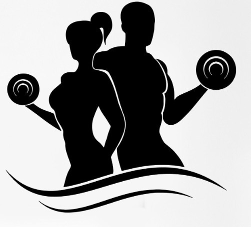 The Post Home And Body: Fashion Fitness Vinyl Wall Decals Lady Man Bodybuilding