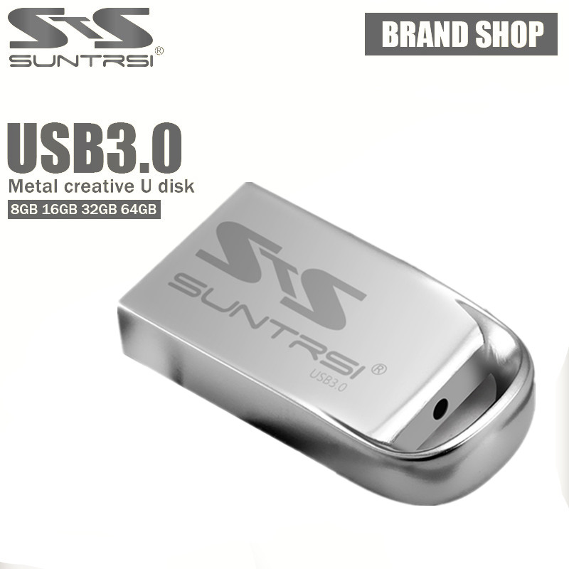Suntrsi USB 3.0 128gb 64gb USB Flash Drive USB Metal Pendrive Waterproof Usb Stick 32gb 16gb 8gb Mini Pen Drive High Speed
